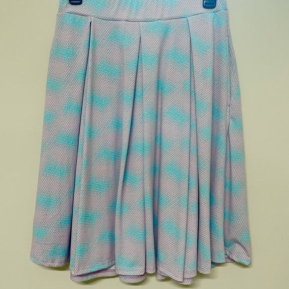 LulaRoe Madison skirt sz Small teal and pink